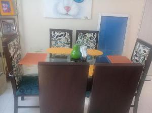 Comedor seis sillas anuncios junio clasf for Sillas comedor estampadas