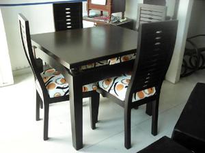 Comedor moderno madera clasf for Comedor 4 puestos moderno