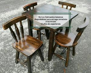 Juego mesas sillas bar anuncios mayo clasf for Sillas tipo bar en madera