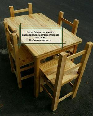 Juegos de 4 sillas una mesa para bar restaurante - bogotá