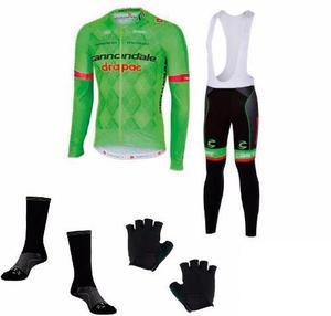 Uniforme ciclista ruta gel manga larga guantes medias s m l