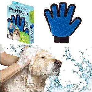 Guante true touch para peinar y acariciar gatos y perros