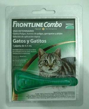 Pipeta frontline para pulgas garrapatas. gatos y gatitos