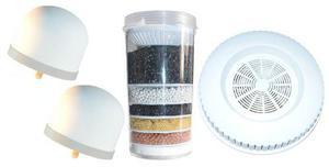 Kit 4 repuestos filtro purificador agua ecotrade 14 litros