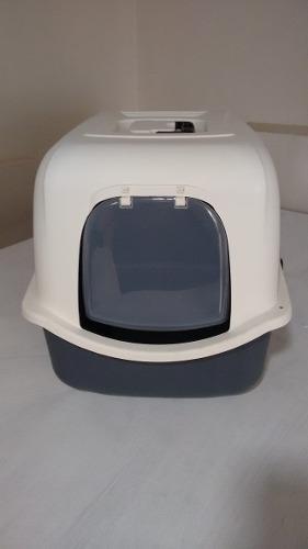 Arenera cubierta grande gato + filtro de olor - incluye pala