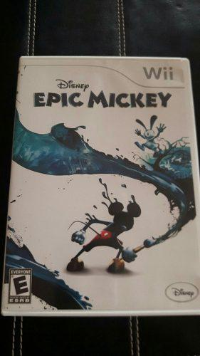 Epic mickey original wii- en perfecto estado