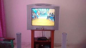 Televisor sony wega mas la mesa y los parlantes