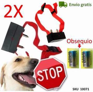 Pack de 2 collar antiladridos perros + 2 pilas + envio w05