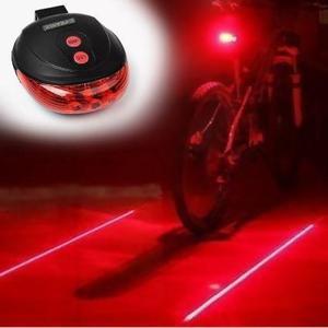Luz trasera para bicicleta con luz láser marca camino -
