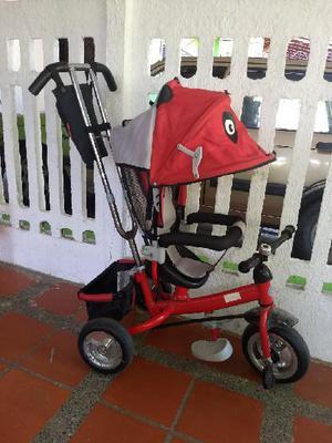 Triciclo paseador rojo. poco uso. - barranquilla