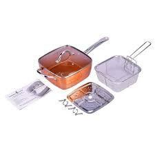 Sarten Antiadherente Copper Chef Cobre Cacerola Vapor Freir