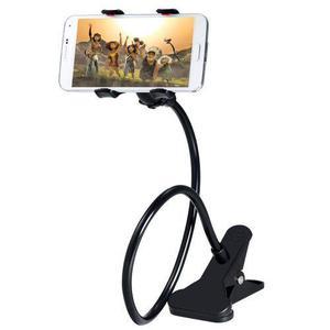 Soporte holder flexible de 60cm / clip para celulares, negro