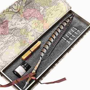 Pluma de pluma de cobre antiguo pluma de metal pluma de e