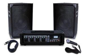 Equipo sonido portatil uso profesional 4 inputs 75 watts 410