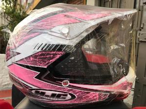 Casco hjc cs mx2 rosado nuevo y original talla m - bogotá