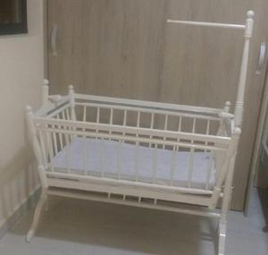 Cuna en madera colchón para bebé - medellín