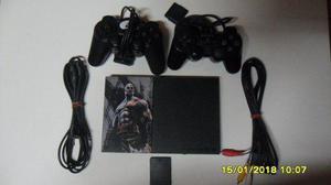 Playstation 2 slim 90001- 2 controles- memory card+ juegos
