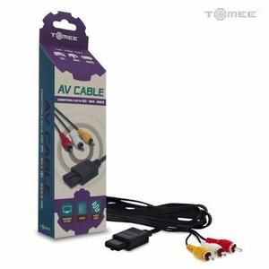 Cable audio video av super nintendo gamecube n64 snes tomee