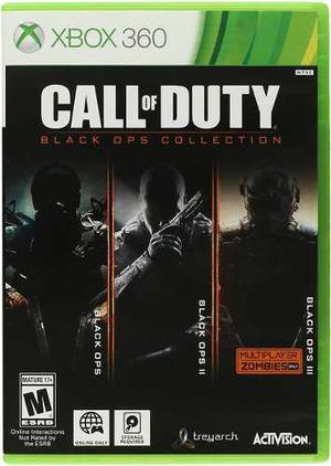 Call of duty black ops 1, 2 y 3, xbox 360, 3 juegos fisicos