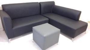 Juego de sala sofa esquinero puff mesa de centro - envigado
