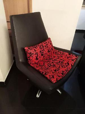 Poltrona silla giratoria en cuero 2 unid - bogotá