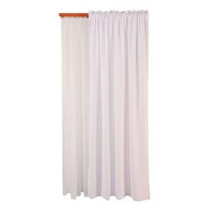 Set x 2 cortina lino + velo 140 x 220 cm blanco sala.comedor