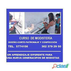 CLASE DE MODISTERIA PERSONALIZADA