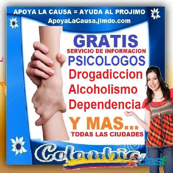 ⭐ gratis, psicologos, psicologo, psicologa, adiccion, alcoholicos, drogadiccion, codependientes, dep