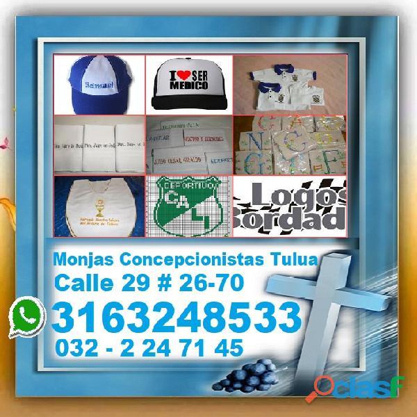 ⭐ bordados, logos, cualquier diseño, bordamos uniformes, manteles, gorras, camisetas, escudos, almoh