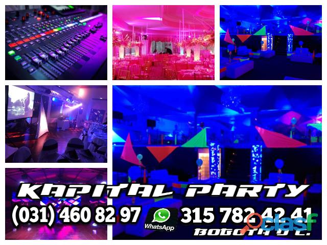 Alquiler de luces y sonido para fiestas en bogotá luces led djs humo hora loca video wall btl evento