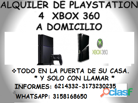 Alquiler de play station 4 y xbox 360 a domicilio en barrancabermeja