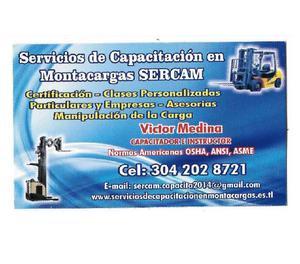 Capacitacion en operacion segura de montacargas sercam