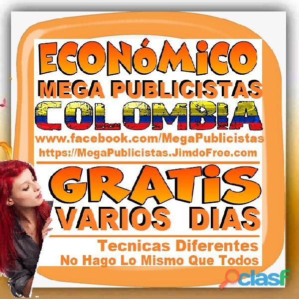 ⭐ GRATIS, Mega Publicistas CALI, Super Publicista, Ultra Agencia Publicidad, Marketing Digital, Merc 1