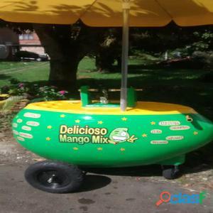 Carro para venta de mango biche