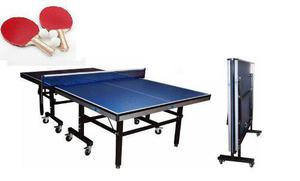 Mesa De Ping Pong Profesional 18 Mm Sportfitness +2 Raquetas