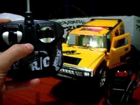 Camioneta hammer a control remoto abre puertas