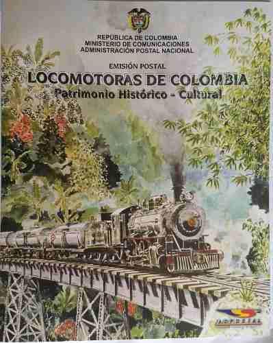 Carpeta Locomotoras Colombia 2004 - Filatelia - Estampillas