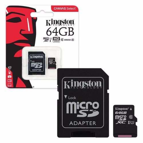 Memoria microsd kingsto 64g clase 10 80mb 533x
