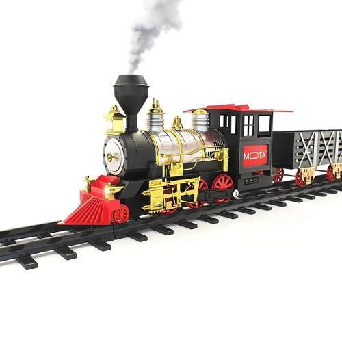 Tren Locomotora Con Sonido-luces-classic Train 18 Piezas