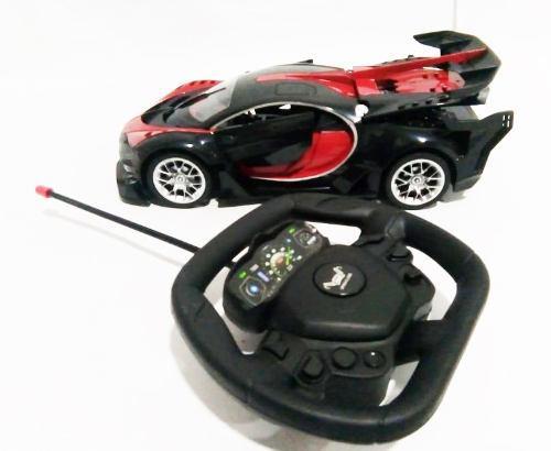 Carro bugatti a control remoto recargable abre puertas