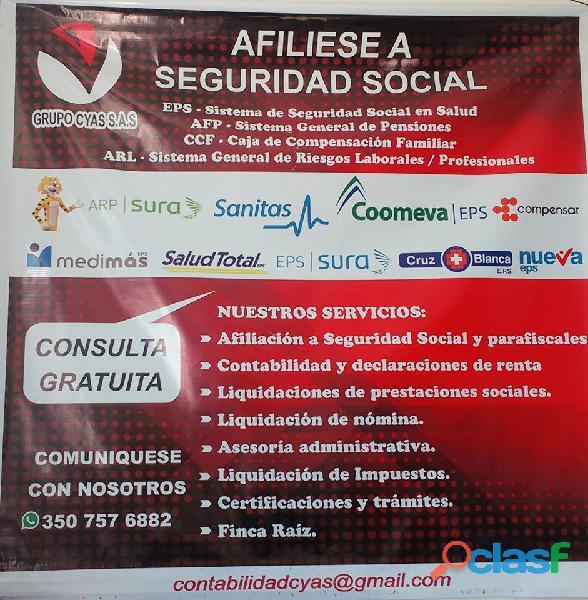 Afiliese a seguridad social