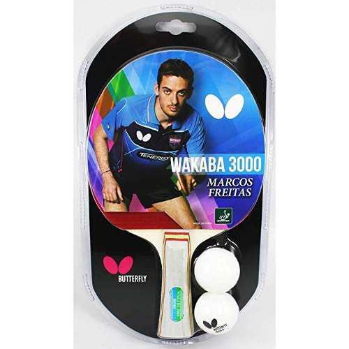 Raqueta Raquetas Ping Pong Butterfly Wakaba 3000 +2 Bolas
