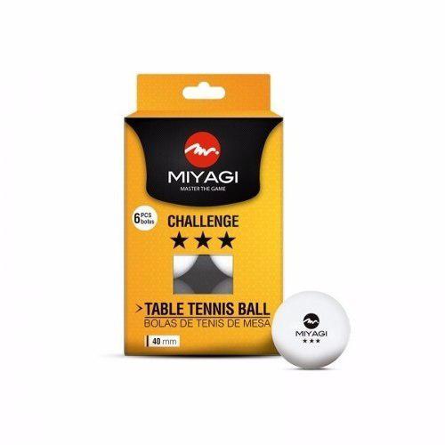 Bolas ping pong tenis de mesa miyagi 3 estrellas caja 6 und