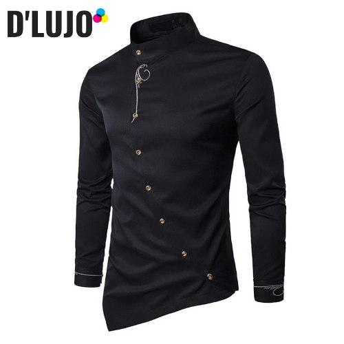 Camisas hombre manga larga exclusiva ropa elegante calidad