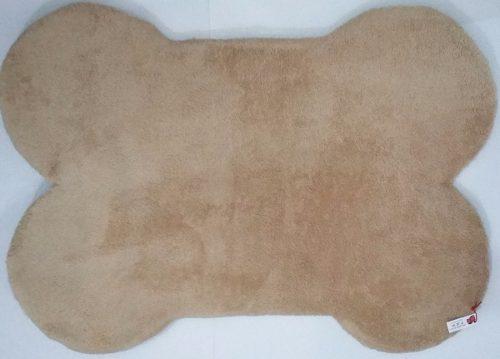 Cama para perro tapete en forma de hueso beige