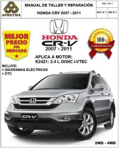 Manual Taller Servicio Honda Crv 2007-2011 Original Honda