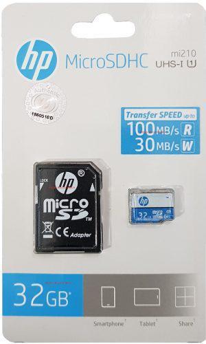 Memoria Micro Sd 32 Gb Hp Clase 10 Uhs-i 100 Mb/s Genuina