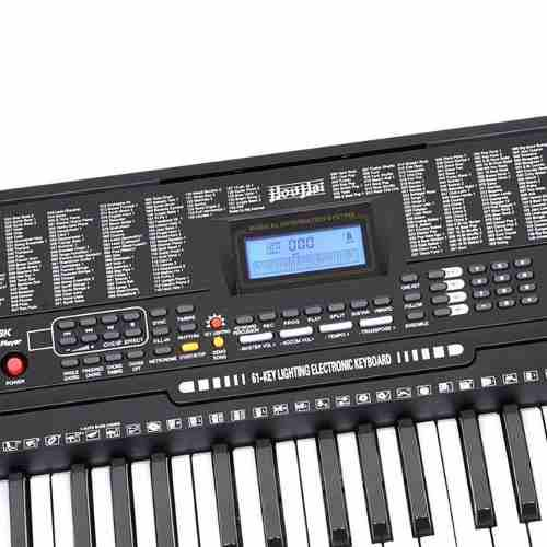 Teclado Mkorg 61 Teclas Con Luces +pantalla Psr Piano Grande