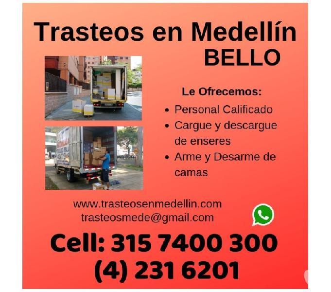 Trasteos en Medellin en BELLO