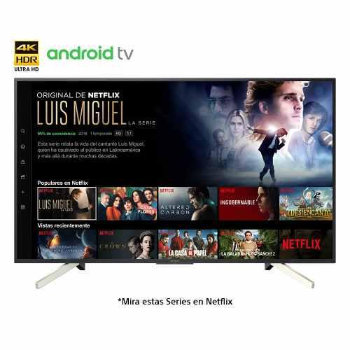 Televisor sony 4k hdr de 55 smart android tv - kd-55x757f